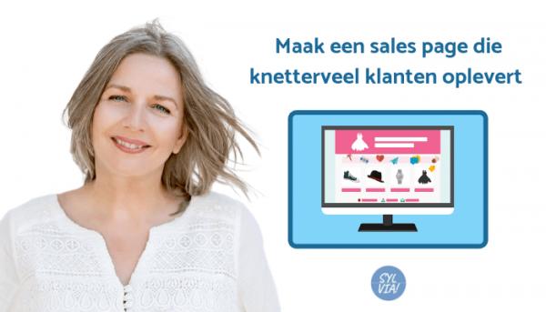Maak een sales page die knetter veel klanten oplevert